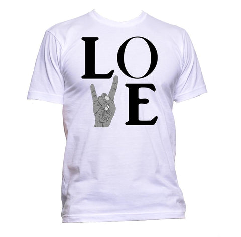 AppleWormDesign • Love Rock Metal gift - Men's T-Shirt •