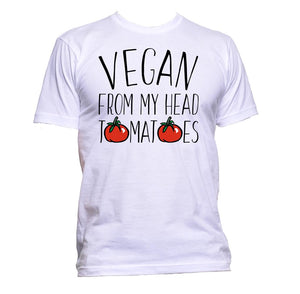 AppleWormDesign • Vegan From My Head Tomatoes With Tomato Drawing gift - Men's T-Shirt •