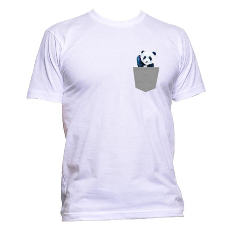 AppleWormDesign • Cute Panda In Pocket gift - Men's T-Shirt •
