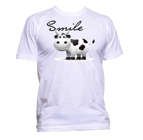 AppleWormDesign • Smile With Cow gift - Men's T-Shirt •