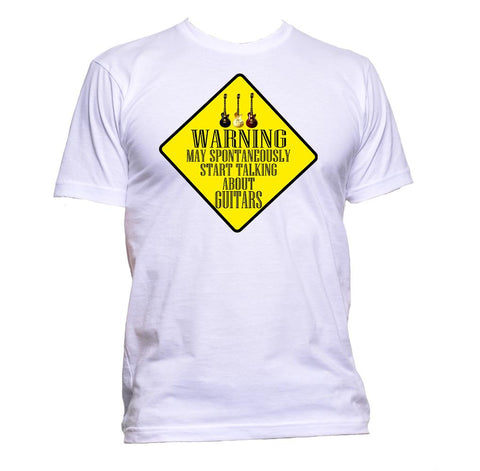 AppleWormDesign • Warning May Spontaneously Start Talking About Guitars gift - Men's T-Shirt •