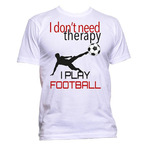 AppleWormDesign • I Don't Need Therapy I Play Football gift - Men's T-Shirt •