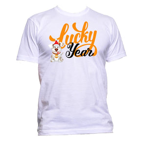AppleWormDesign • Lucky Year With Dog Christmas gift - Men's T-Shirt •