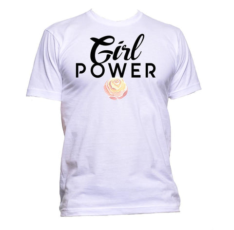 AppleWormDesign • Girl Power With Flower gift - Men's T-Shirt •