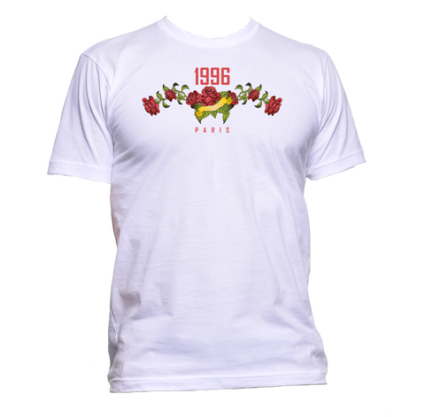 AppleWormDesign • 1996 Paris With Roses Flowers gift - Men's T-Shirt •