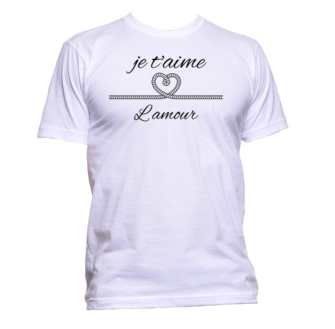 AppleWormDesign • Je T'aime Lamour gift - Men's T-Shirt •