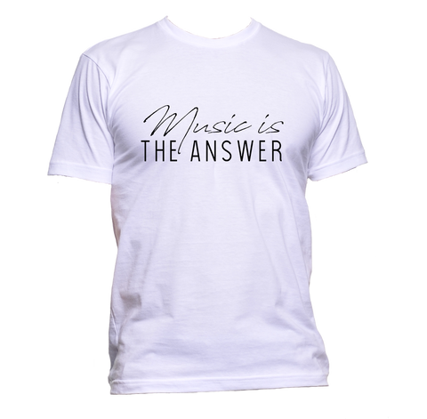 AppleWormDesign • Music Is The Answer Black Font gift - Men's T-Shirt •