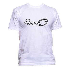 AppleWormDesign • I Love Rugby Sport Ball gift - Men's T-Shirt •