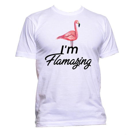 AppleWormDesign • I'm Flamazing Flamingo gift - Men's T-Shirt •