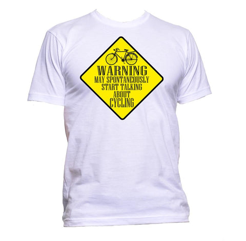 AppleWormDesign • Warning May Spontaneously Start Talking About Cycling gift - Men's T-Shirt •