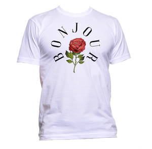 AppleWormDesign • Bonjour With Rose gift - Men's T-Shirt •