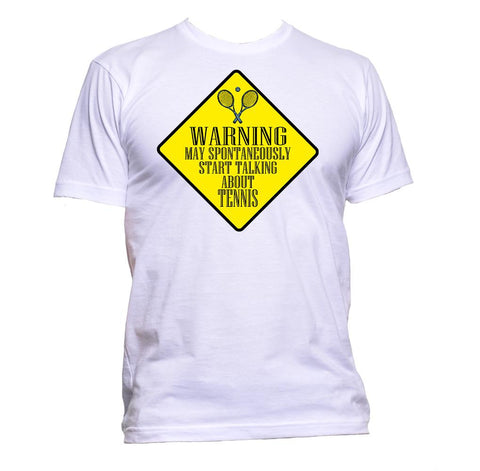 AppleWormDesign • Warning May Spontaneously Start Talking About Tennis gift - Men's T-Shirt •