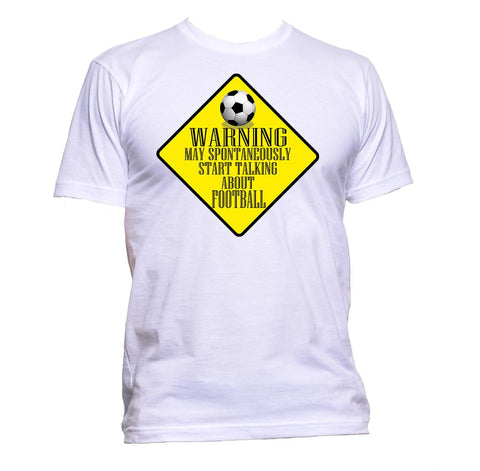 AppleWormDesign • Warning May Spontaneously Start Talking About Football gift - Men's T-Shirt •