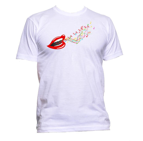 AppleWormDesign • Singer Song Music Musician Sing Red Lips gift - Men's T-Shirt •