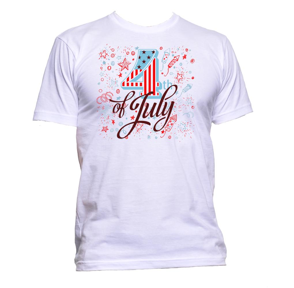 AppleWormDesign • 4th of July America USA Independence Day gift - Men's T-Shirt •