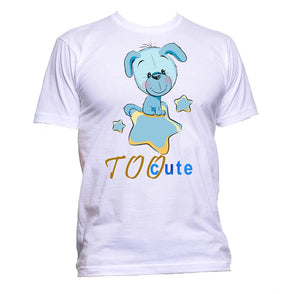 AppleWormDesign • Too Cute With Dog gift - Men's T-Shirt •
