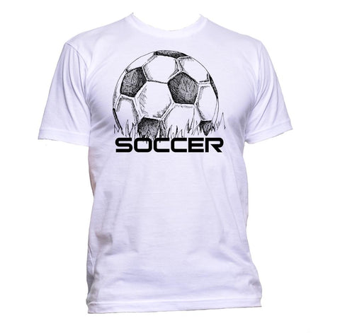 AppleWormDesign • Ball Football Soccer gift - Men's T-Shirt •