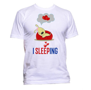 AppleWormDesign • I Love Sleeping With Puppy gift - Men's T-Shirt •
