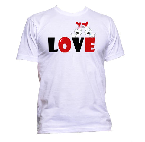 AppleWormDesign • Love Dog gift - Men's T-Shirt •