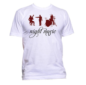 AppleWormDesign • Night Music Concert Musician gift - Men's T-Shirt •