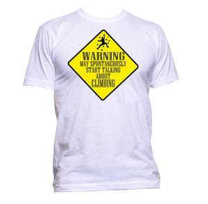 AppleWormDesign • Warning May Spontaneously Start Talking About Climbing gift - Men's T-Shirt •