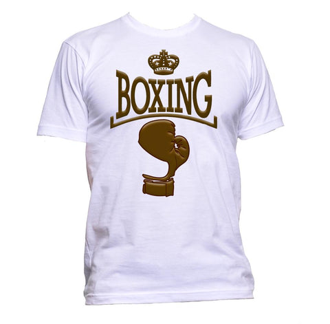 AppleWormDesign • Boxing With Gloves And Crown gift - Men's T-Shirt •