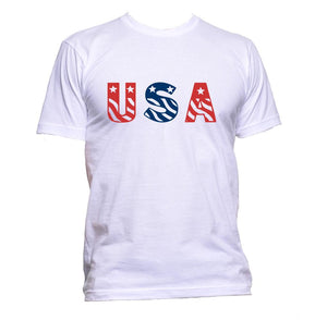 AppleWormDesign • USA With Flag United States America gift - Men's T-Shirt •