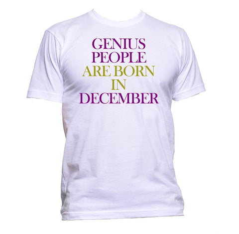 AppleWormDesign • Genius People Are Born In December gift - Men's T-Shirt •