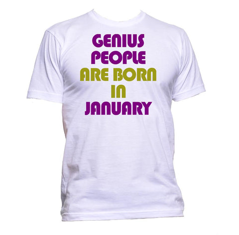 AppleWormDesign • Genius People are Born In January Birthday gift - Men's T-Shirt •