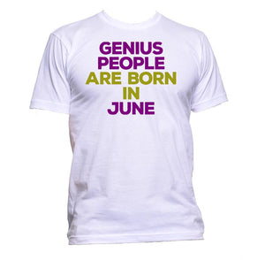 AppleWormDesign • Genius People Are Born In June gift - Men's T-Shirt •