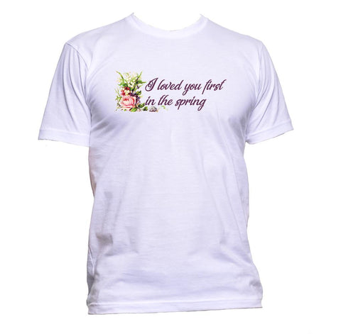 AppleWormDesign • I Loved You First In The Spring gift - Men's T-Shirt •