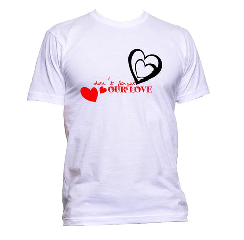 AppleWormDesign • Don't Forget Our Love Heart Valentine's gift - Men's T-Shirt •