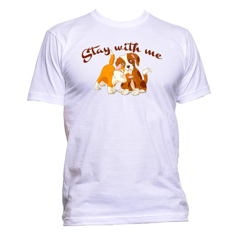 AppleWormDesign • Stay With Me Dog And Cat gift - Men's T-Shirt •