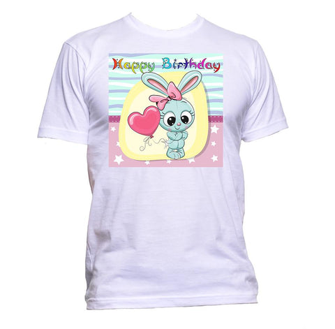 AppleWormDesign • Happy Birthday With Cute Rabbit gift - Men's T-Shirt •