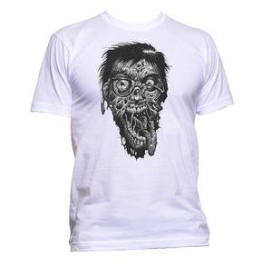 AppleWormDesign • Zombie Geek Head gift - Men's T-Shirt •