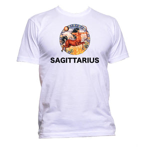 AppleWormDesign • Sagittarius Horoscope Astrology Zodiac Star Signs gift - Men's T-Shirt •