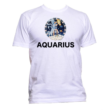 AppleWormDesign • Aquarius Horoscope Astrology Zodiac Star Signs gift - Men's T-Shirt •