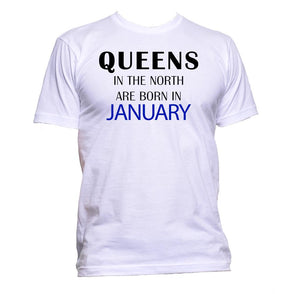 AppleWormDesign • Queens In The North Are Born In January gift - Men's T-Shirt •