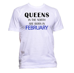 AppleWormDesign • Queens In The North Are Born In February gift - Men's T-Shirt •