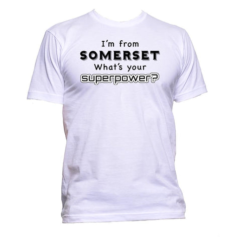 AppleWormDesign • I'm From Somerset What's Your Superpower? gift - Men's T-Shirt •