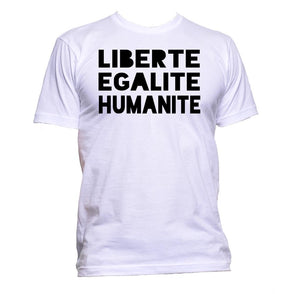 AppleWormDesign • Liberte Egalite Humanite gift - Men's T-Shirt •