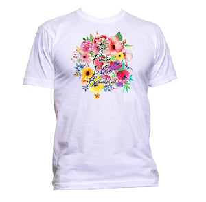AppleWormDesign • The Flower Is So Beautiful gift - Men's T-Shirt •