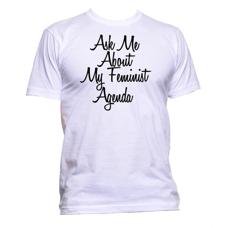 AppleWormDesign • Ask Me About My Feminist Agenda gift - Men's T-Shirt •