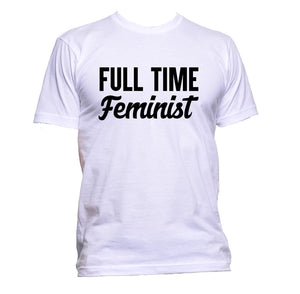 AppleWormDesign • Full Time Feminist gift - Men's T-Shirt •