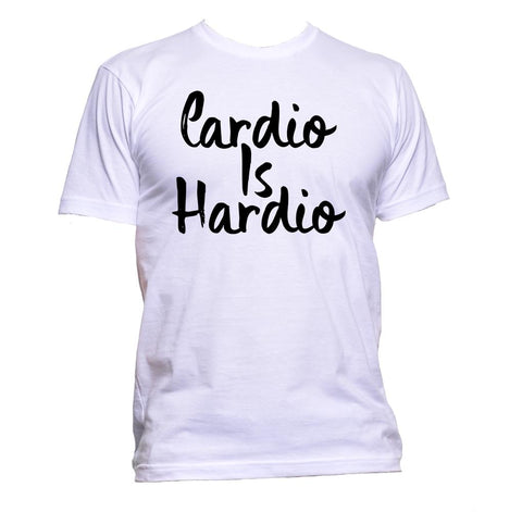 AppleWormDesign • Cardio Is Hardio Gym Running gift - Men's T-Shirt •