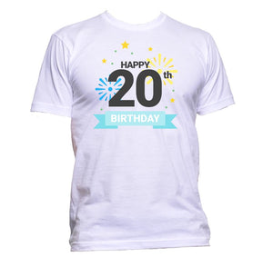 AppleWormDesign • Happy 20th Birthday Twenty gift - Men's T-Shirt •