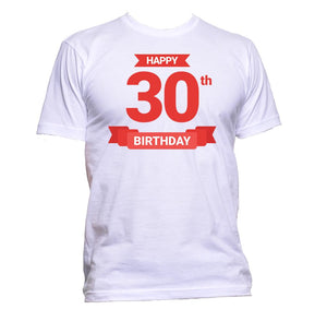 AppleWormDesign • Happy 30th Birthday Thirty gift - Men's T-Shirt •