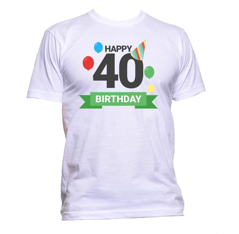 AppleWormDesign • Happy Birthday 40 Forty gift - Men's T-Shirt •