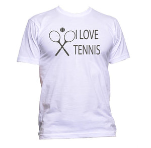 AppleWormDesign • I Love Tennis Sport gift - Men's T-Shirt •