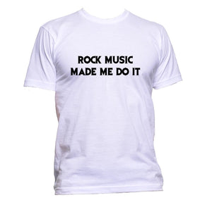 AppleWormDesign • Rock Music Made Me Do It gift - Men's T-Shirt •